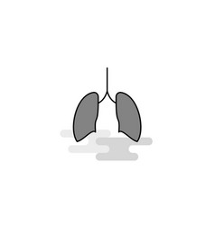 lungs web icon flat line filled gray icon vector image