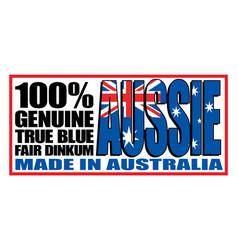Made in australia logo sticker vector