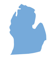 Michigan state map vector