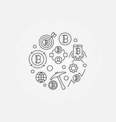 minimal cryptocurrency symbol vector image