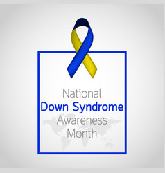 National down syndrome awareness month icon vector