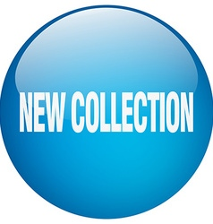 New collection blue round gel isolated push button vector