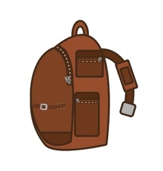 packback pocket strap travel bag tourist vector image