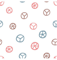 peace signs seamless pattern vector image