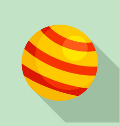 pet ball toy icon flat style vector image