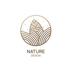 Pine cone pattern logo design vector