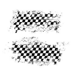 Racing flag car race sport auto rally grunge vector