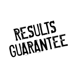 Results Guarantee rubber stamp vector
