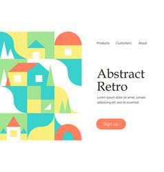 retro geometric design vector image