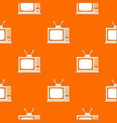 retro tv pattern seamless vector image