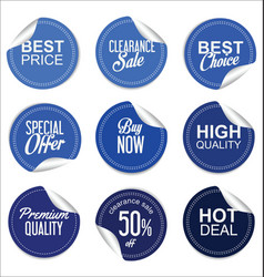 sale price blue tag collection vector image