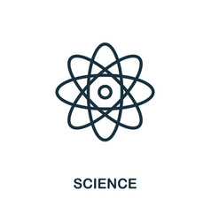 Science icon simple line element from vector