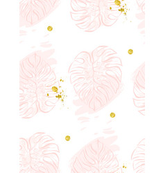 Seamless pattern with polka dots of rose vector