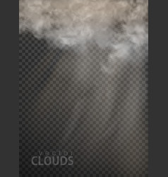set clouds and smoke on transparent vector image