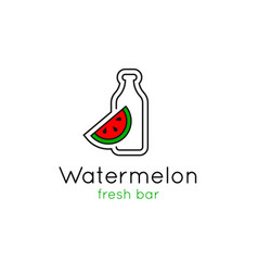 smoothie bar minimalistic logo vector image