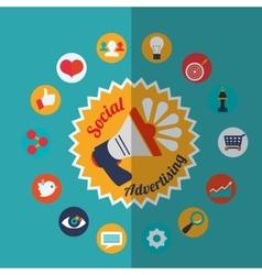 Social Advertising and Digital Marketing design vector