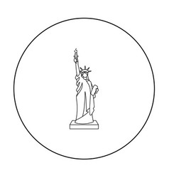statue of liberty icon in outline style isolated vector image