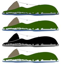 Sugar loaf hill rio de janeiro city vector