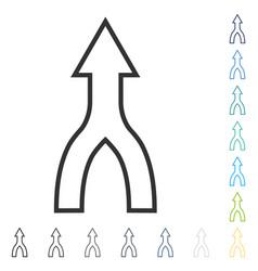 Unite arrow up icon vector