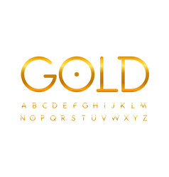unusual elegant thin line golden letters set gold vector image