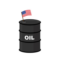 usa barrel oil america petroleum business vector image