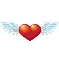 Valentine Heart with wings vector image