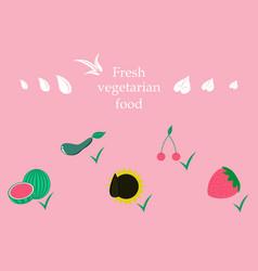 Vegetables top view frame farmers market menu vector