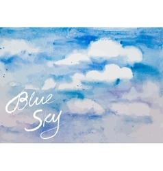 watercolor blue sky vector image