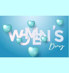 women day greeting card background vector image