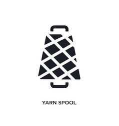 Yarn spool isolated icon simple element from vector