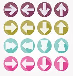 Arrow icons shadow vector image
