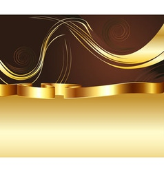 Brown and Gold Background2 vector image vector image
