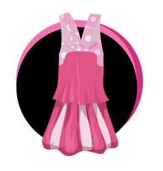 fashion stylish dress icon elegant vector image