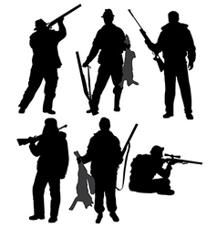 Hunter Silhouette vector image vector image