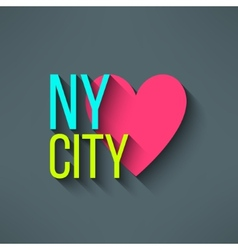 New York city love t-shirt design logo and vector image vector image