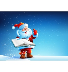Santa with book vector image vector image