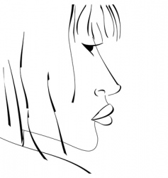 sketch of woman vector image