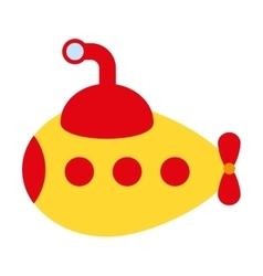 submarine toy isolated icon design vector image