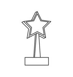 trophy star win image outline vector image vector image