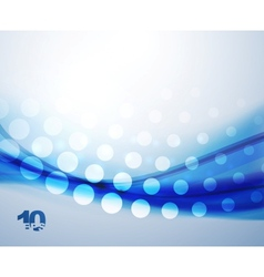 abstract blue waves background vector image
