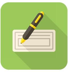 Bank check icon vector image
