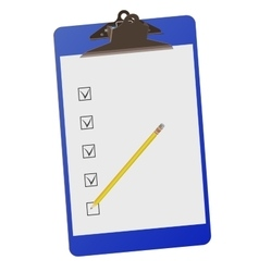 Clipboard with checklist and pencil - vector image vector image