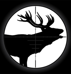 Hunter sniper scope vector image vector image