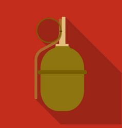 military grenade icon in flat style isolated on vector image