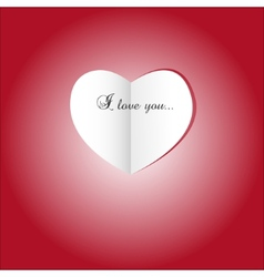 Paper heart St valentines day vector image vector image