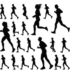 runnergroup502 vector image vector image
