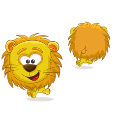 Lion front and back vector image vector image