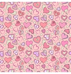 pattern with hearts vector image