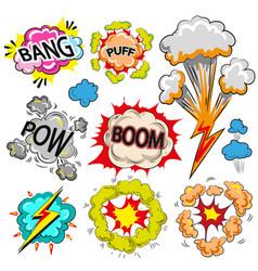 pop art comic modern speech bubble set vector image