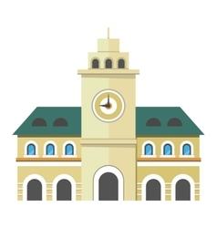 Urban city building with clock vector